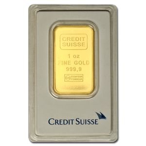 1 oz Credit Suisse Gold Bar | One Ounce Gold Bar For Sale | Gold and Silver Online