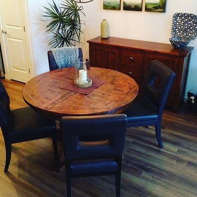 Another Happy Customer! Thank you Greba for sending us these photos. Your new dining table and buffet look amazing in your dining room as does the teak root console table! It was a pleasure working with you to help select the perfect pieces for your new home. #happycustomers #DowntownCourtenay