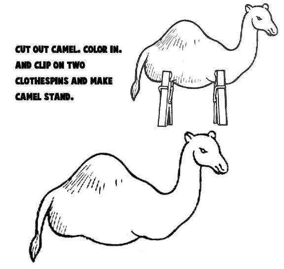 Camel-clothespin craft