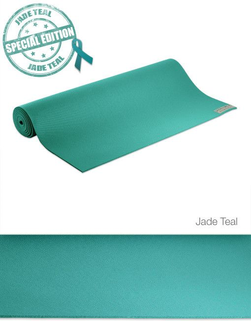 """Jade Yoga Mat - 74""""- Teal (supports Ovarian cancer research)"""