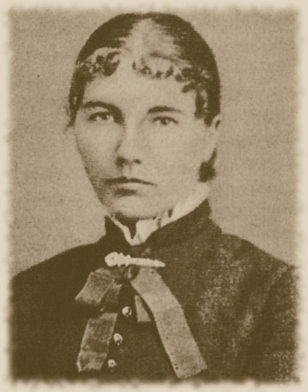 Laura, 1884, 17 years old, taken when she and Almanzo were courting.