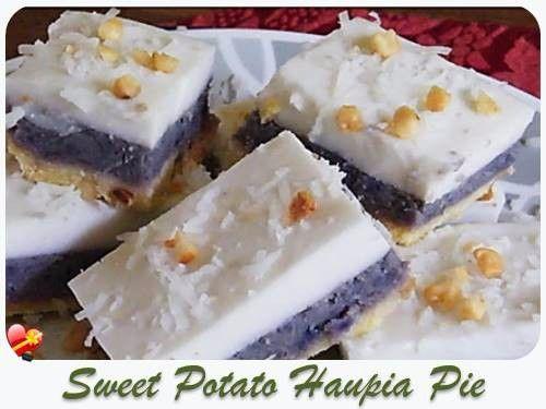 Try this Okinawan Sweet Potato Haupia Pie recipe. Make a large pan or a nice pie size. Enjoy!