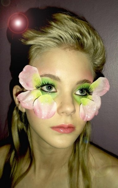 extreme flower makeup fashion photography catwalk
