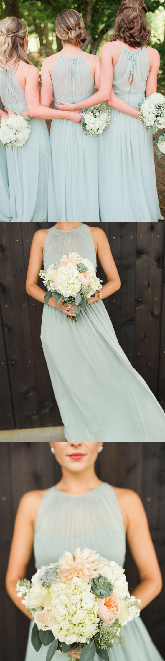 Charming Chiffon Formal Wedding Party Guest Long Bridesmaid Dresses, BG51616