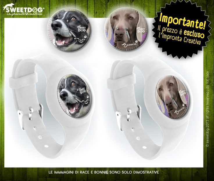 DOG: RACE (Border Collie) & BONNIE (Weimaraner) - Dog Personalized watches! - Your DOG in your WATCH.