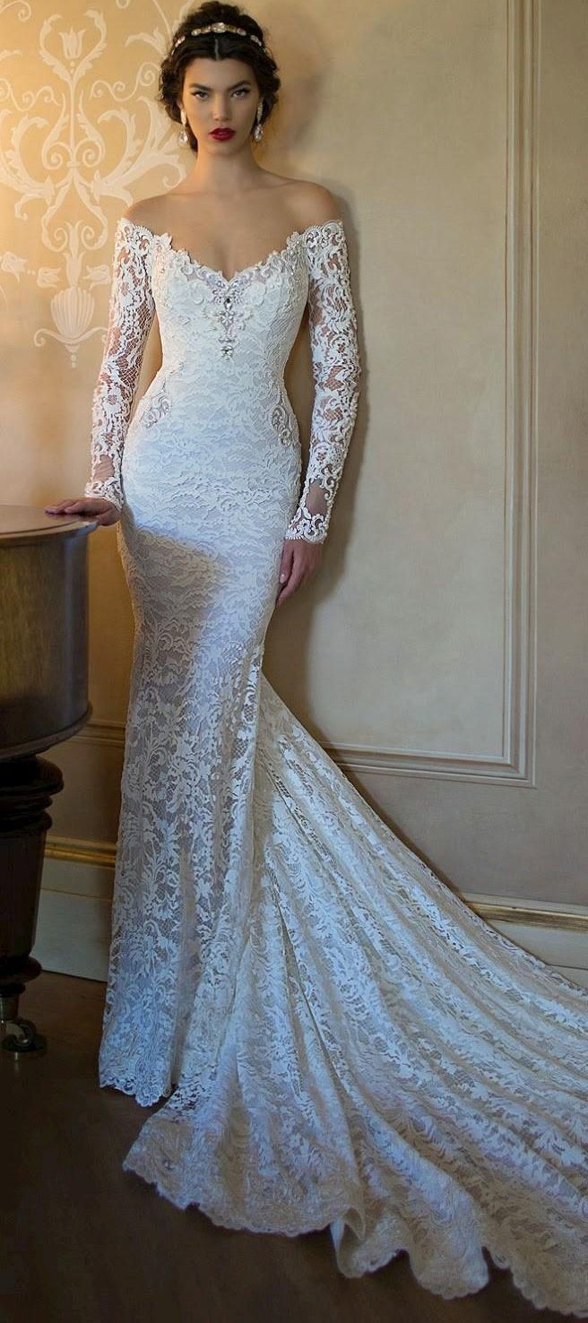 New Fashion Lace Wedding Dresses 2017 Long Sleeve Bridal Gown Sexy Backless Chapel Train Applique Mermaid Wedding Gown Plus Size em Vestidos de casamento de Casamentos & Eventos no AliExpress.com | Alibaba Group