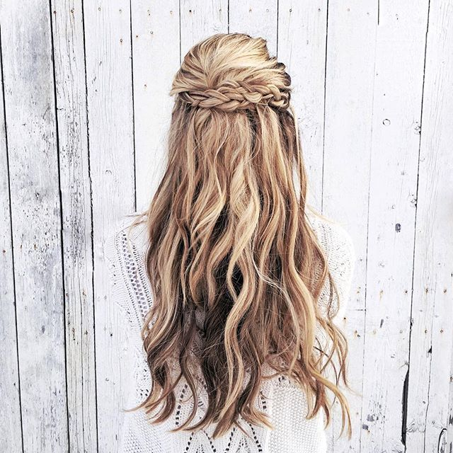 Winter White + Braided Crown ❄ #AFLAHair #XOStyling