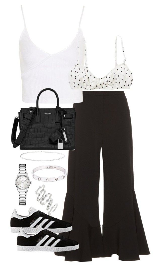 """Untitled #4433"" by theeuropeancloset on Polyvore featuring Peter Pilotto, Topshop, American Eagle Outfitters, adidas, Yves Saint Laurent, Anne Sisteron, Cartier, Calvin Klein and Luv Aj"