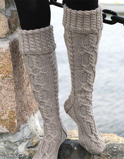 Knit Inspiration: Long Socks in Karisma These socks are... - DudesThatKnit