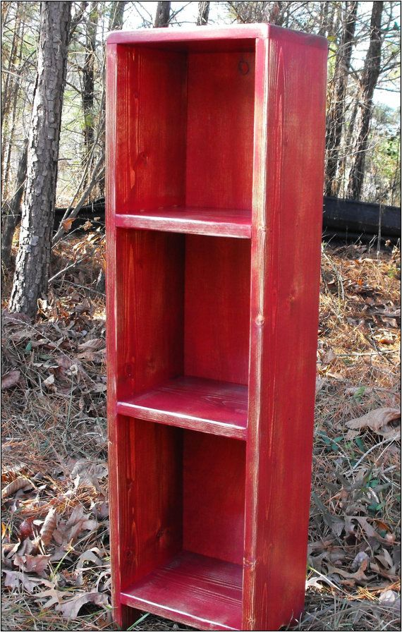 36 Stylish Primitive Home Decorating Ideas: Primitive Bookcase Storage Media Tower Shabby Style 36'' X