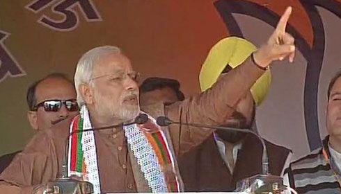 PM Modi promises Kashmiris he will fulfil Vajpayee's 'dream'
