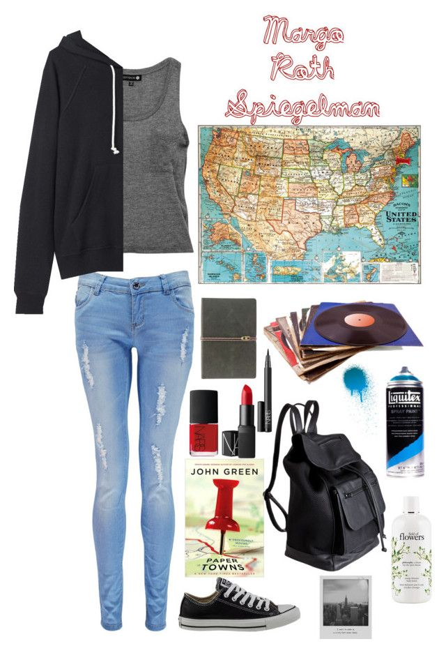 """Margo Roth Spiegelman- Paper Towns"" by maven2275 ❤ liked on Polyvore featuring Boohoo, La Garçonne Moderne, Converse, NARS Cosmetics, Pieces, philosophy, Meggie, contestentry and papertowns"