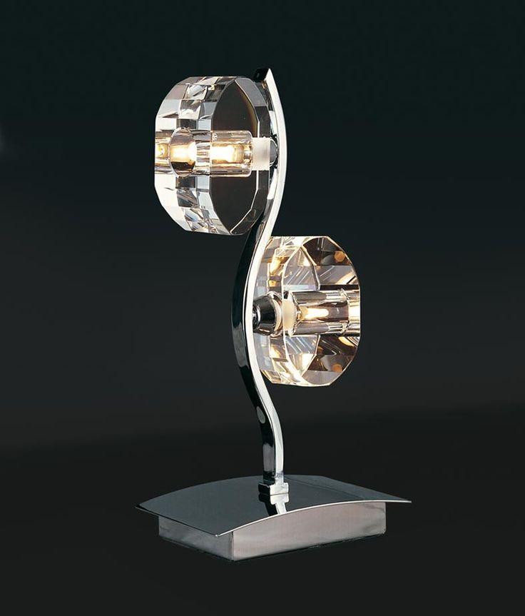 Sobremesa cromo 2 luces ALFA - La Casa de la Lámpara