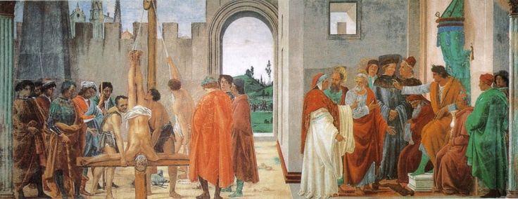 Crocifissione di san Pietro e disputa di Simon Mago (1482-87 circa; Firenze, Chiesa di Santa Maria del Carmine, Cappella Brancacci)