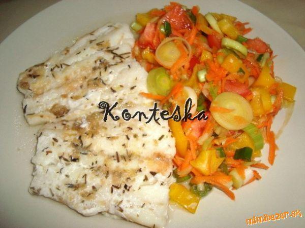 Výborná a zdravá ryba so zeleninovým šalátikom :-)