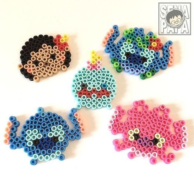 Tsum Tsum Lilo & Stitch perler beads by senapapa.beads