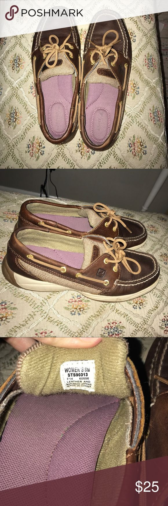 Women's top-sided sperry dark brown sperrys that are in excellent condition Shoes Platforms