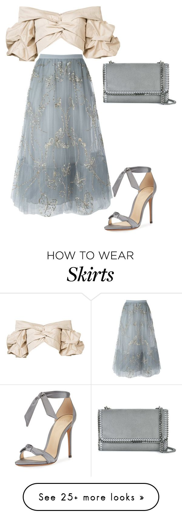 """tulle vibes"" by guccibunny on Polyvore featuring Alexandre Birman, Valentino, Johanna Ortiz and STELLA McCARTNEY"