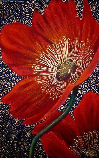 Red Velvet Poppies byCherie Roe Dirksen