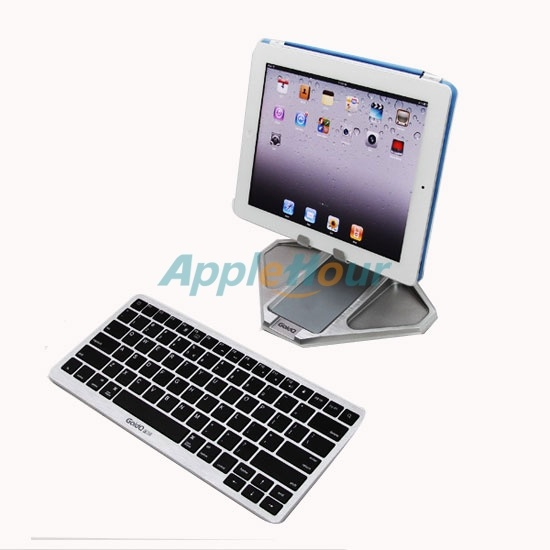 Folding Metal Stand + Bluetooth Keyboard with Free Extra Case for iPad (keyboard010)  $58.20