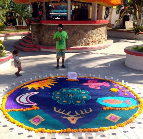 The plaza in #sayulita in honor of #DiaDeLosMuertos #mexico #aluckylife