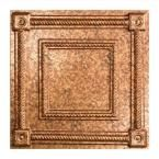 Coffer - 2 ft. x 2 ft. Lay-in Ceiling Tile in Cracked Copper
