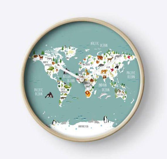 reloj de pared,reloj decorativo,mapamundi infantil,reloj mapa,mapa del mundo infantil,reloj circular,reloj redondo reloj colgar,relojes