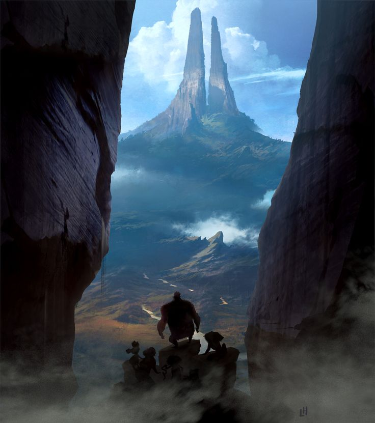 Croods: The Mountain by Leighton Hickman