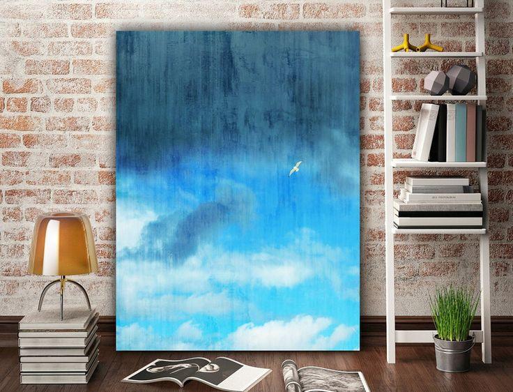 """Drucke auf Leinwand - Leinwand """"Lonely Bird"""" 80 x 60 cm - ein Designerstück von Heavensblue-Fotografie bei DaWanda"""