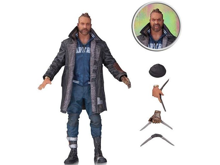 """#transformer DC movie series """"suicide squadron"""" boomerang captain Samurai Killer Crocodile movable doll"""