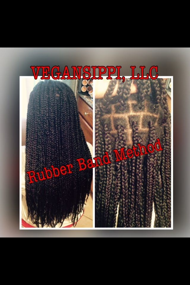 Crochet Box Braids With Rubber Bands : ... ) on Pinterest Crochet braids, Marley hair and Max hydration method