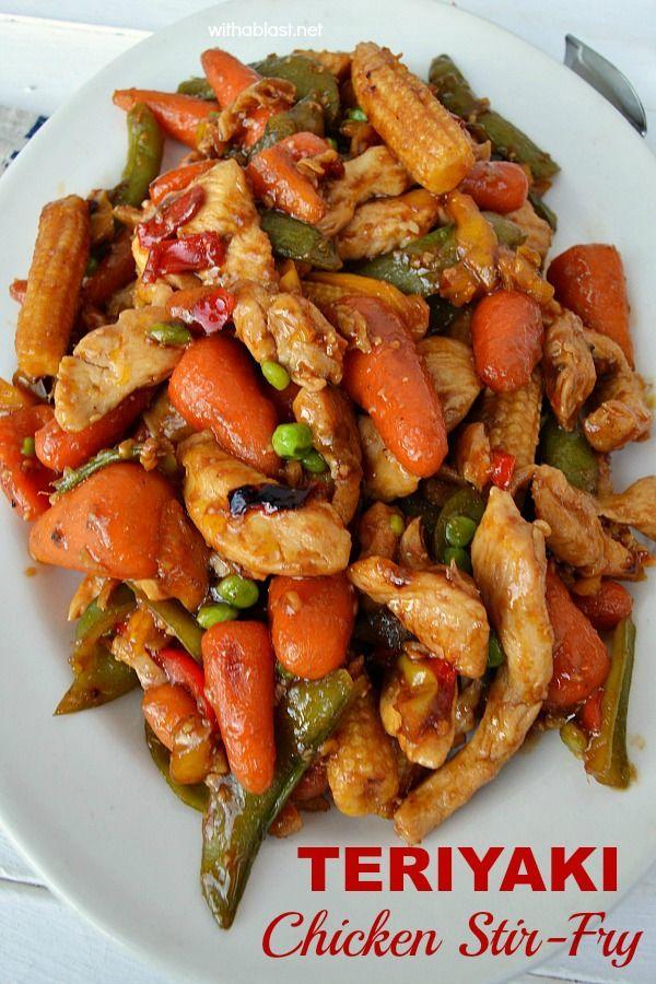 Quick, easy & perfect last minute dinner - Teriyaki Chicken Stir-Fry