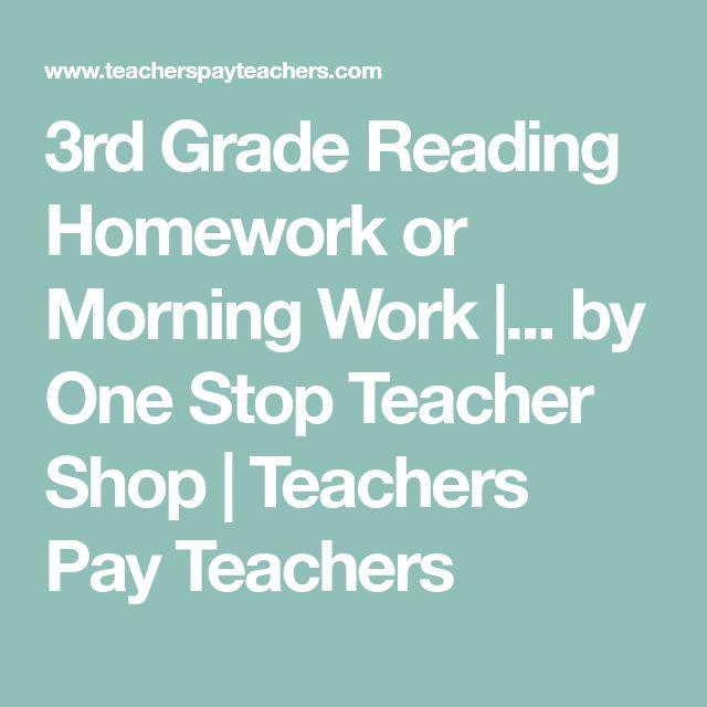 3rd Grade Reading Homework or Morning Work |... by One Stop Teacher Shop | Teachers Pay Teachers
