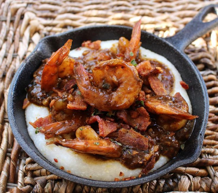 """Jake Smollett...""""It's all good babay-babayy! Shrimp and Grits Nawlins style! Link in bio"""""""