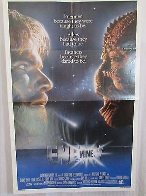 Enemy Mine 1985 Movie Poster Dennis Quaid Louis Gossett, Jr. Brion James