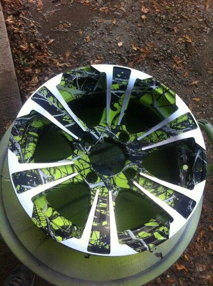 ATV rim camo dipped