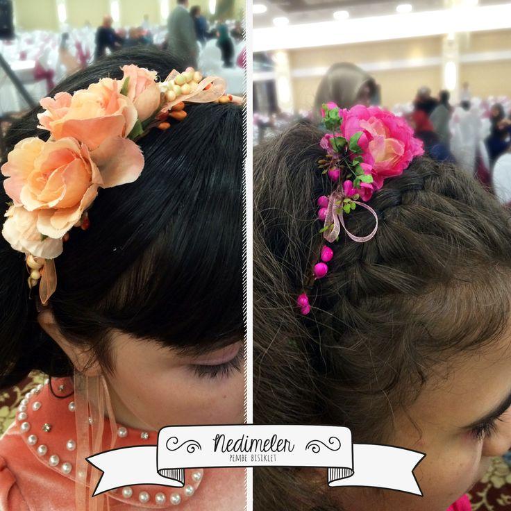Bu şirin kızlar da taclarımızın sahipleri..  Sipariş vermek için facebook veya instagram adresinden Pembe Bisiklet'e ulaşabilirsiniz... #pembebisiklet #nedime #nedimetacı #düğün #dügün #çiçekli #çiçeklitac #sacaksesuarı #gelinaksesuarı
