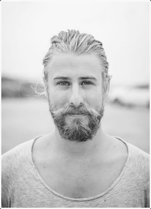 This type of beard is also known as Garibaldi and is suitable for a person aiming a slightly dapper and unkempt look.