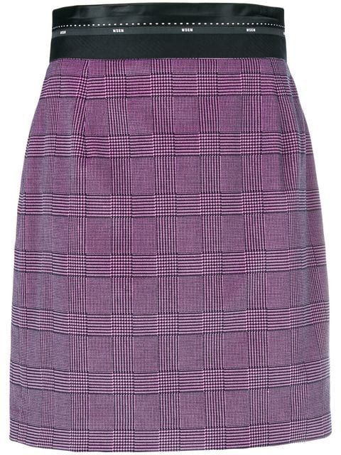 e1ebbafdfd7216 MSGM Checked Print Short Skirt - Farfetch