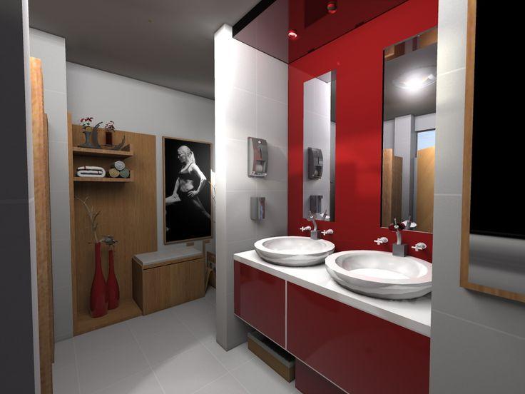 natural power`s bathroom #render #gym #fitness