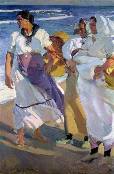 Joaquin Sorolla - Valencian Fisherwomen 1915