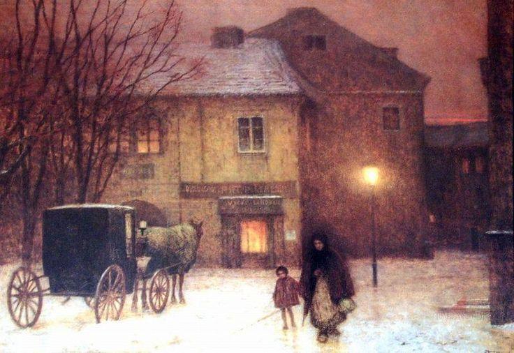 Jakub Schikaneder - Zimní večer ve městě