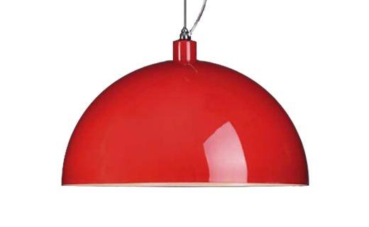"""Lampara de colgar """"Dome"""" metalica lacado Rojo"""