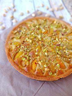 Tarte abricot et crème d'amande à la pistache