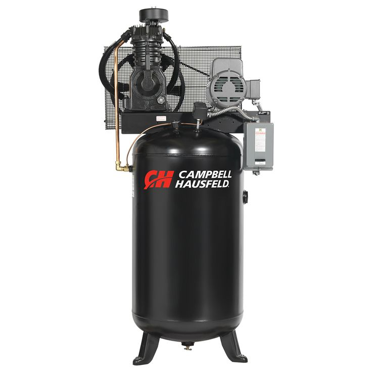 The Campbell Hausfeld 80-gallon, 5 hp, vertical, two-stage air compressor (CE7050) is ideal for auto repair facilities and tire repair outlets. Find it at campbellhausfeld.com. #CampbellHausfeld