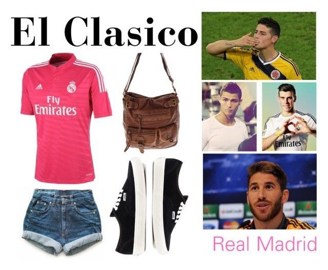 """El Clasico (Real Madrid)"" by louisadidas ❤ liked on Polyvore featuring Vans, Levi's and adidas"
