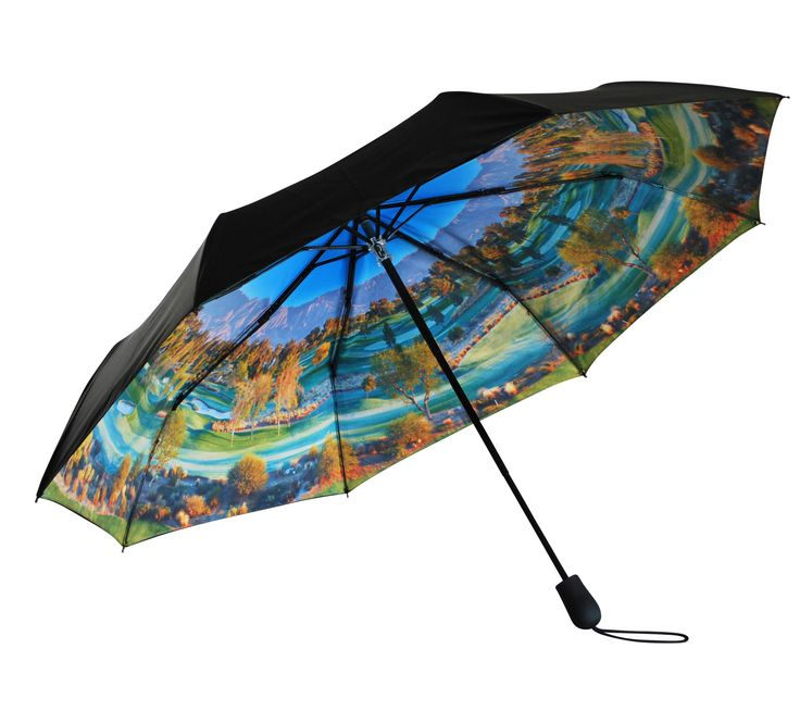 'Tee Time' Folding Umbrella |  http://www.whereidratherbe.co.uk/products/tee-time-folding-umbrella
