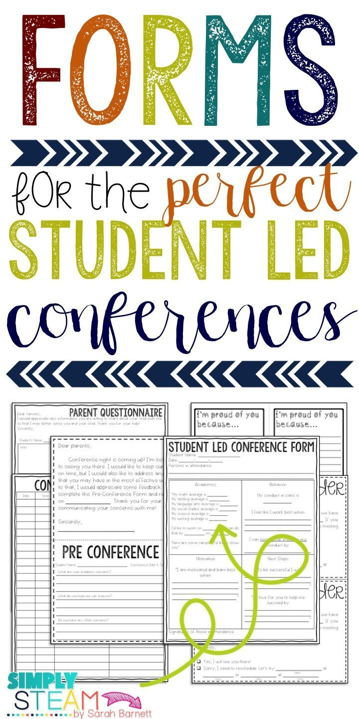 Planning your parent teacher conference will be easy with these forms. These include student led conferences and parent teacher conference printables as well as a schedule.
