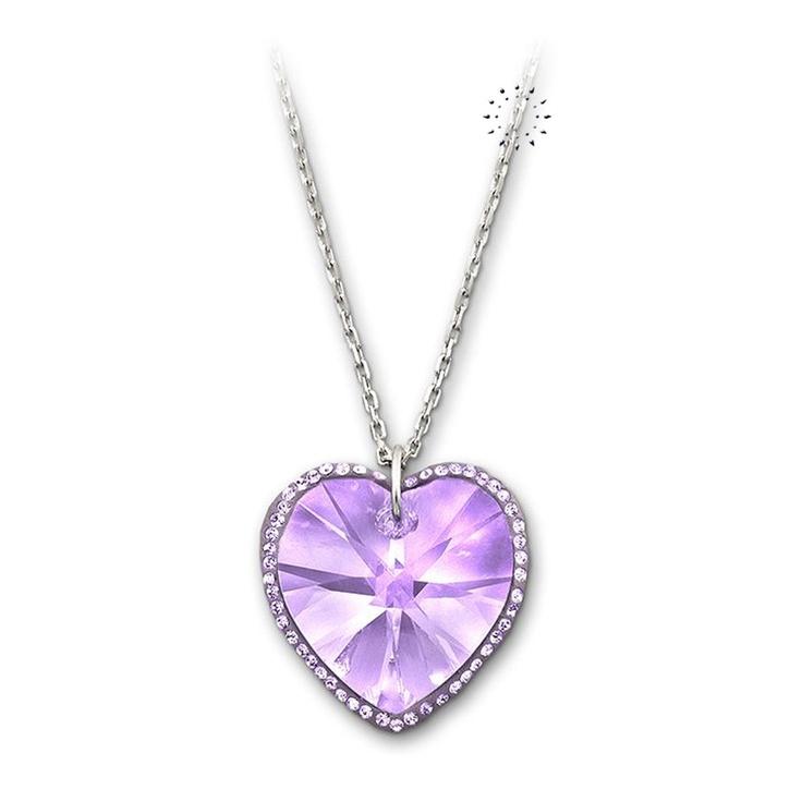Κολιέ Reverie Violet Heart Swarovski  89€  http://www.kosmima.gr/product_info.php?manufacturers_id=62_id=18403