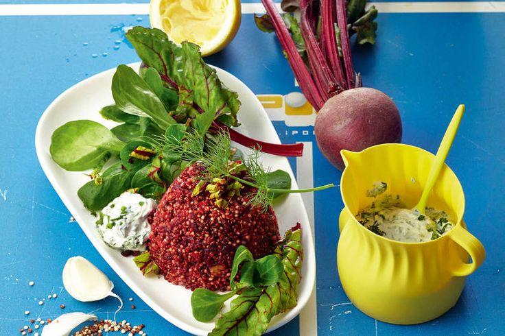 Das Rezept für Rotes Quinoa-Törtchen mit allen nötigen Zutaten und der einfachsten Zubereitung - gesund kochen mit FIT FOR FUN
